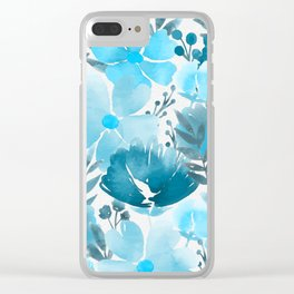 Watercolour background with variety of flowers VII Clear iPhone Case