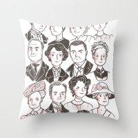 downton abbey Throw Pillows featuring Downton Abbey by giovanamedeiros
