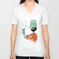 jay fleck V-neck T-shirts featuring beard on fleck 3 0f 4 by Cimone Key
