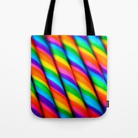 candy Tote Bags featuring Rainbow Candy : Candy Canes by Whimsy Romance & Fun