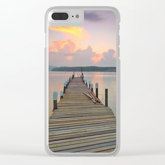 Dock Days Clear iPhone Case
