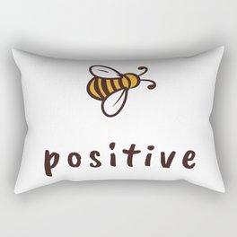 Bee Positive Rectangular Pillow