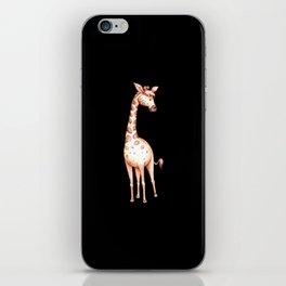 Waterolor giraffe drawing gift for giraffe fans iPhone Skin