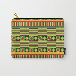 Kente pattern Carry-All Pouch