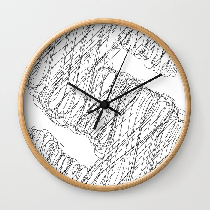 """ Cloud Collection "" - Minimal Letter S Print Wall Clock"