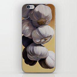 Garlic Still Life iPhone Skin