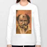 klimt Long Sleeve T-shirts featuring 50 Artists: Gustav Klimt by Chad Beroth