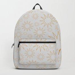 Golden stars on white grey Backpack