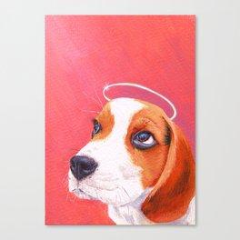 beagle portrait Canvas Print