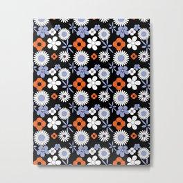 summer flowers tile Metal Print
