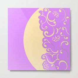 Ivory and Lilac Metal Print