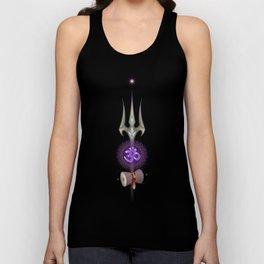 sacred symbols of yoga. Shiva Om Unisex Tank Top