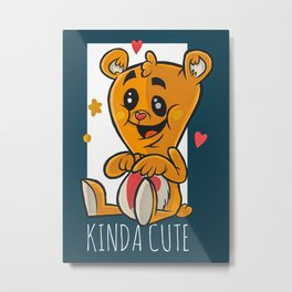 Amorous Teddy Bear Metal Print