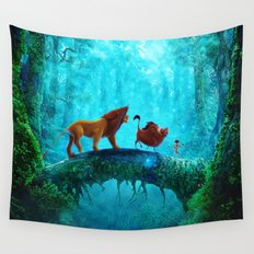 King Of Jungle Wall Tapestry