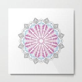 Colourful Geometric Mandala Metal Print