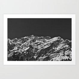 Monochromatic Mountains Art Print