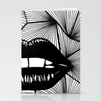 lips Stationery Cards featuring Lips by Aurelie