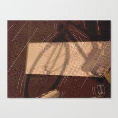 Me & bike Canvas Print