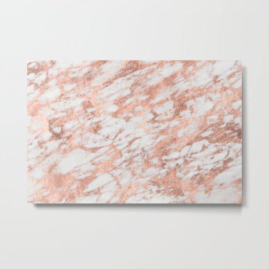 Blush Gold Quartz Metal Print