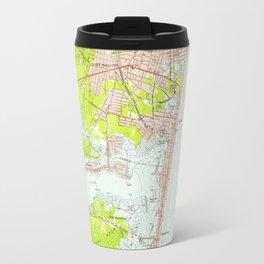 Vintage Map of Point Pleasant NJ (1953) Travel Mug
