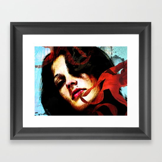 out of the light Framed Art Print