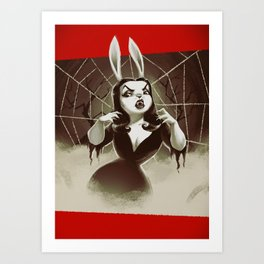 Vampirabbit Art Print