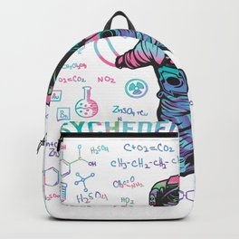 Psychedelic Space Astronaut. Outer Space Rave Design design Backpack