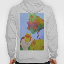 Rainbow Trees and a Girl Hugging her Horse Hoody