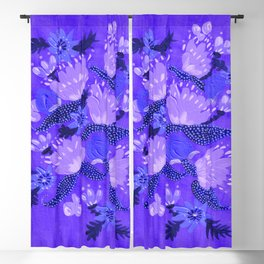 Blue Peonies Blackout Curtain