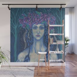 Foxgloves, Dryad Forest Spirit Surreal Fantasy Wall Mural