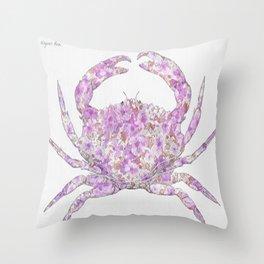 Floral Crab  Throw Pillow