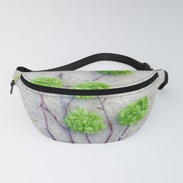 Green Poof Branches Fanny Pack