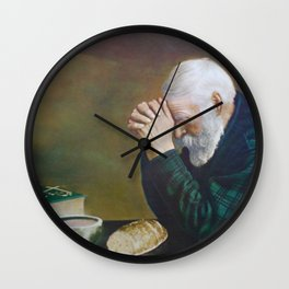 Eric Enstrom Grace Man Praying Over Bread Wall Clock