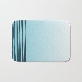 design exotic  lines, blue Bath Mat