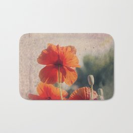 Red Poppies, Flowers Bath Mat