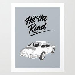 Vintage Racecar – Hit The Road Art Print