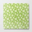DAISIES ON APPLE GREEN by daisybeatrice