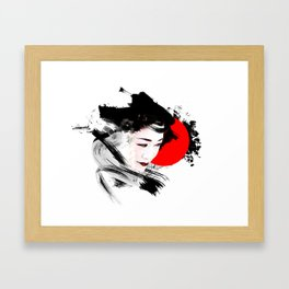 Japan - Kyoto - Geisha Framed Art Print