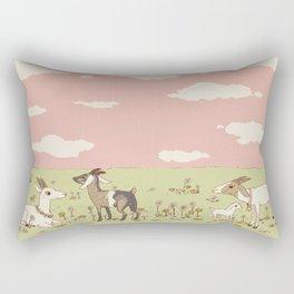 goat field Rectangular Pillow