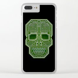 Skull Hacker (isolated version) Clear iPhone Case