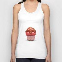 cake Tank Tops featuring Cake by Tatyana Adzhaliyska