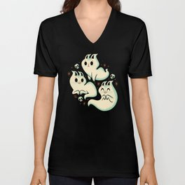 Ghost Cats Unisex V-Neck