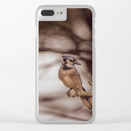 The Blue Jay Clear iPhone Case