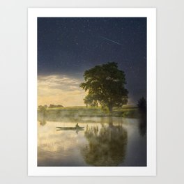 Magic morning Art Print