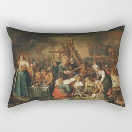 New arrivals in Hell medieval art Rectangular Pillow