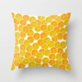 Citric orange fruits pattern Throw Pillow