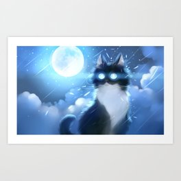 Made of moon Art Print