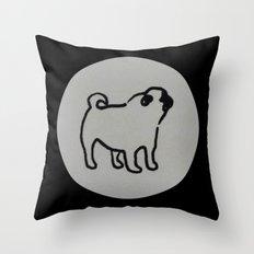 pug polka dot Throw Pillow