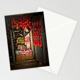 Slipper shop in Kathmandu, Nepal Stationery Cards