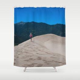 Walking The Sand Dunes Shower Curtain